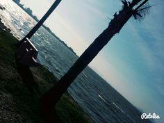 Passeio na orla de Florianópolis.