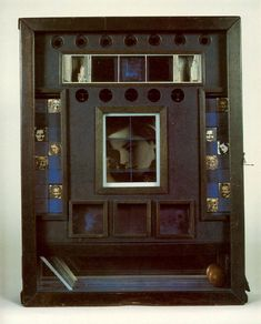 Joseph Cornell,  Penny Arcade Portrait of Lauren Bacall (here's his most famous box probably – made for Lauren Bacall in 1946 – right after To Have and Have Not came out. Cornell was obsessed.)