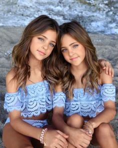Clements Twins x PQ Swim PQ Swim Girls' Lace Two-Piece Swimsuit, Little Kid, Big Kid - Exclusive Kids - Bloomingdale's Fashion Kids, Young Girl Fashion, Preteen Girls Fashion, Little Girl Models, Child Models, Beautiful Little Girls, Cute Little Girls, Pretty Kids, Little Girl Haircuts