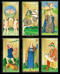 NEU! DAS ORIGINAL ECHT GOLDENE VISCONTI Künstler TAROT Kartenlegen