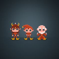 Listen to me... Did You recognize them?  #pixel #pixelart #16bit #characters #theoluk #instagram #instagaming #instagamer #amiga #commodore #amiga500 #games #videogames #videogame #awesome #amazing