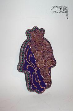 Hamsa Amulette Kabbalah Hand der Fatima Hand von UltroViolet