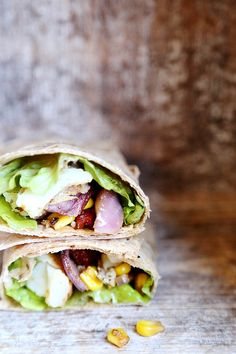 Potato, Corn and Onion Tortilla Wraps with Sundried Tomatoes. #food