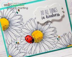 Daisies & A Ladybug Handmade Card and Video Tutorial.