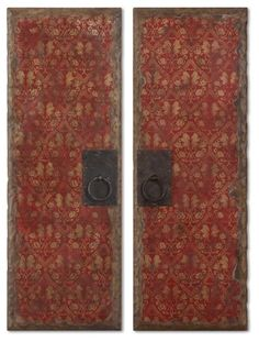 Uttermost 37-Inch by 13-Inch Red Door Panels Art, Set of 2 Uttermost,http://www.amazon.com/dp/B002A0UHHE/ref=cm_sw_r_pi_dp_XEastb05WF204H3M