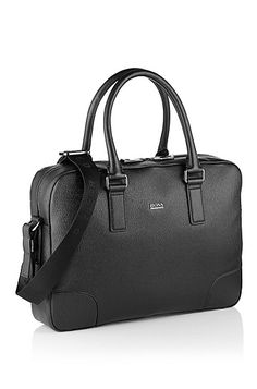 Business bag made of printed leather 'Westin', Black