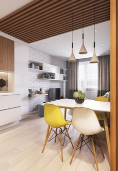 Kitchen decorations and interior ideas, which look so nice and popular! Purchase our kitchen supplies with a big SALE right now! Condo Living, Home Living Room, Living Room Designs, Living Room Decor, Design Studio, House Design, Home Interior Design, Interior Decorating, Interior Ideas