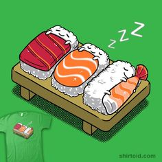 """Sushi"" by Benjamin Ang.   Shhhh… eat 'em don't wake 'em."