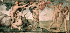 Fall of Man, 1508-12, Michaelangelo Within the Sistine Chapel Ceiling