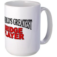 CafePress - 'The World's Greatest Bridge Player' Large Mug - Coffee Mug, Large 15 oz. White Coffee Cup *** Startling review available here  : Coffee Mugs