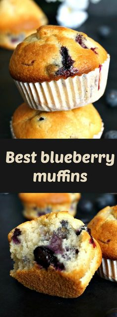 Fluffy blueberry muffins, deliciously golden and healthy too. Great as a breakfast on the go or a healthy snack in between meals. Perfect afterschool snack for little ones.