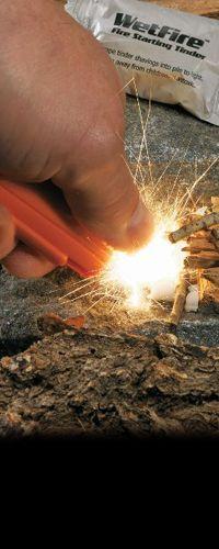 Ultimate Survival Technologies   Sparkie the one handed firestarter :-)