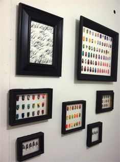 How to Make a Shadowbox to Display Your Nail Art- can't wait to make this