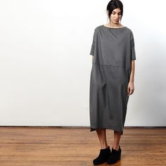 Lu.'s Dress No.15 in Concrete!  Get yours now! Available at @hellovelouria @lesamisseattle @sevensisterspdx @backtalkpdx @thisislu.us