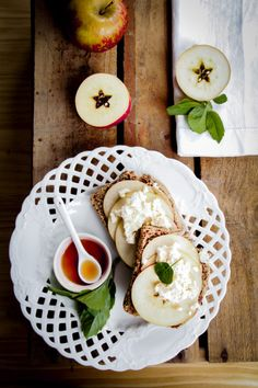 Nut butter, Apple and Ricotta Toast