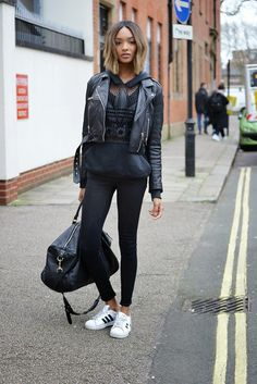 The Front Row View: Model Street Style: Jourdan Dunn's Sports Luxe Look