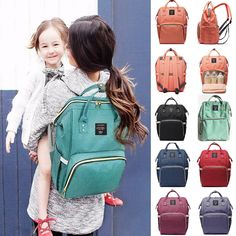 Fashion Mummy Diaper Backpack Large Capacity Maternity Nappy Baby Travel Bag in Baby, Diapering, Diaper Bags Large Diaper Bags, Baby Diaper Bags, Madelyn Monroe, Diaper Bag Backpack, Travel Backpack, Travel Bags, Changing Bag, Baby Necessities, Traveling With Baby