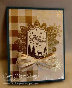 Stampin' Up! Stamper's Dozen Blog Hop November 2017 Foil Foil Foil with Merry Little Labels and Year of Cheer Specialty Designer Paper. Handmade Christmas cards. #carolpaynestamps