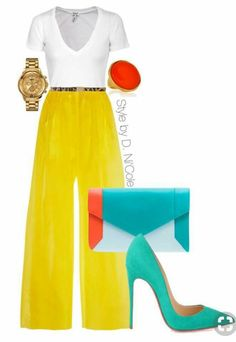 A fashion look from April 2015 featuring Splendid t-shirts, Delpozo pants and Christian Louboutin pumps. Browse and shop related looks. Work Fashion, I Love Fashion, Runway Fashion, Fashion Looks, Womens Fashion, Classy Outfits, Chic Outfits, Fashion Outfits, Inspiration Mode