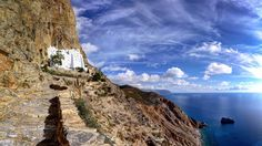 The monastery of Panagia Hozoviotissa on Amorgos island, Greece © Lemonan/iStock/Getty Images -BingWallUK