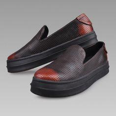 Men Orange Brown Leather Goth Fashion Casual Dress Brock Shoes SKU-1280708