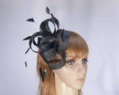 Black fascinator headpiece for Melbourne Cup buy online 4445B