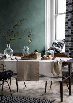Dining room design ideas, whatever the space and budget you have to play with. Find inspiration for your dining room design with these looks and styles Mad About The House, Hm Home, Living Room Colors, Living Room Inspiration, Living Room Interior, Wabi Sabi, Home Collections, Wall Colors, Living Spaces