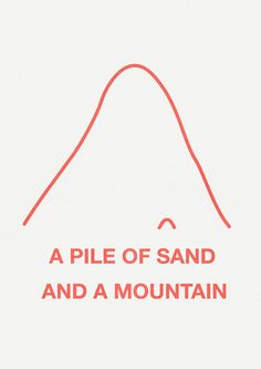 risographs A3 03 a pile of sand and a mountain