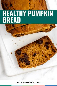 A classic pumpkin bread, made healthier! This version of my pumpkin bread uses white whole wheat flour as a base and is lightly sweetened with maple syrup. It's completely dairy free, nut free, and refined sugar free. #erinliveswhole #pumpkin #pumpkinbread #fall Healthy Pumpkin Bread, Pumpkin Spice Syrup, Avocado Smoothie, Fall Baking, Healthy Treats, Pumpkin Recipes, Breakfast Recipes, Desserts, Food