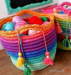 You won't believe how easy it is to make this gorgeous Crochet Rainbow Basket and you can make it in all your favourite colours. Get the Free Pattern now.
