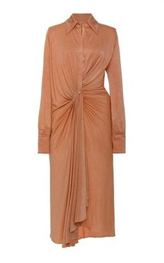 Lorenne Ruched Satin-Jersey Dress by DoDo Bar Or Muslim Fashion, Modest Fashion, Fashion Dresses, Classy Fashion, Luxury Fashion, Women's Fashion, Ruched Dress, Silk Dress, Wrap Dress