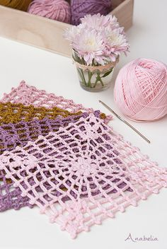 New crochet square motif and a new crochet project                                                                                                                                                                                 More