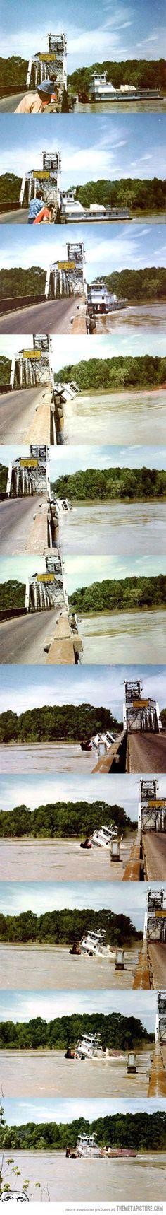 How a boat crossing bridge like a sir
