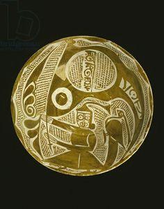 Platter with a standard bearer (earthenware) Creator     Islamic School, (10th century)