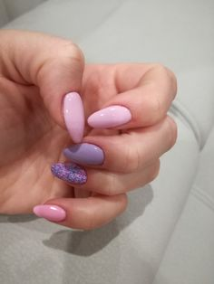 NeoNail Sand effect, Light lavender, Semilac Sweet Pink