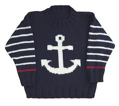 Anchor Pullover pattern by Gail Pfeifle, Roo Designs
