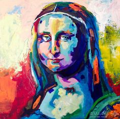 "Pop Art - Alma Arts Agency Olga Dacha/""Monalisa"", 2014. Acrylic on canvas 80x80cm"