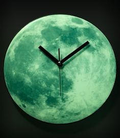 Glow-in-the-dark Moon Clock My New Room, My Room, Moon Clock, Tick Tock Clock, Glow, Dark Moon, Blue Moon, Over The Moon, The Darkest