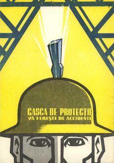Graphic front - tiparituri - afise - Afise pentru propaganda vizuala a protectiei muncii, 1968