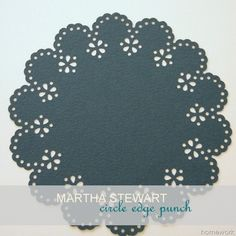 homework: Etceteras: martha stewart circle edge punch
