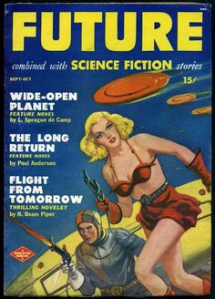 FUTURE - 1950 | pulp cover science fiction vintage art