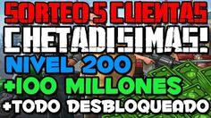 SORTEO 5 CUENTAS CHETADISIMAS DE GTA 5 ONLINE CON DINERO INFINITO + NIVE...