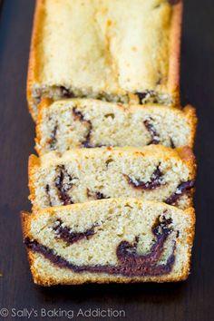 Nutella Swirl Cake.