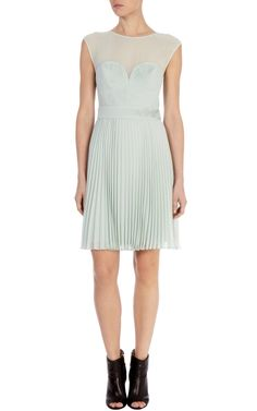 Pintuck pleated dress | Luxury Women's OccasionWear | Karen Millen
