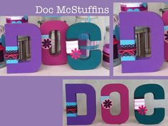 Doc Mcstuffin Inspired Character Letters Disney Crafts Disney