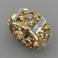 print model Ring formats STL, diamond-ring gem jewel jewellery, ready for animation a Jewelry Rings, Jewelery, Silver Jewelry, Jewelry Accessories, Jewelry Design, Women Jewelry, Unique Jewelry, Jewellery Uk, Luxury Jewelry