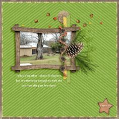 Family Album 2015: Today's Weather layout by Tina Shaw | Pixel Scrapper digital scrapbooking