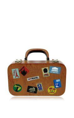Travel Bag In Brown by Urania Gazelli for Preorder on Moda Operandi
