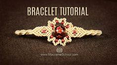 Big Bead Flower Bracelet Tutorial by Macrame School