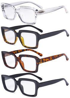 Eyekepper 4 Pack Ladies Reading Glasses - Stylish Oversized Square Readers for Women Stylish Reading Glasses, Lunette Style, Bifocal Glasses, Computer Glasses, Fashion Eye Glasses, Womens Glasses, Glasses Frames, Mode Style, Look
